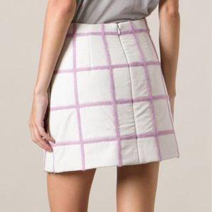 3.1 Phillip Lim Puffer Mini Grid Skirt NWT